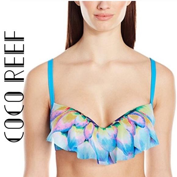 fc9866955 Coco Reef Women s Ruffle Bikini Top